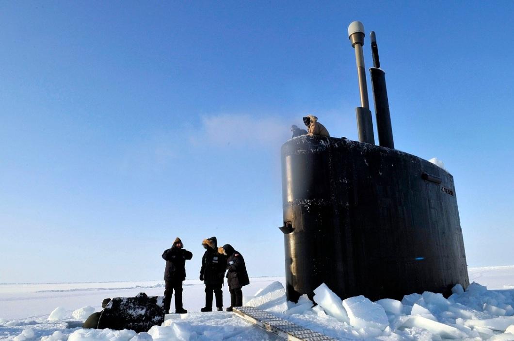 USS Annapolis in Arctic