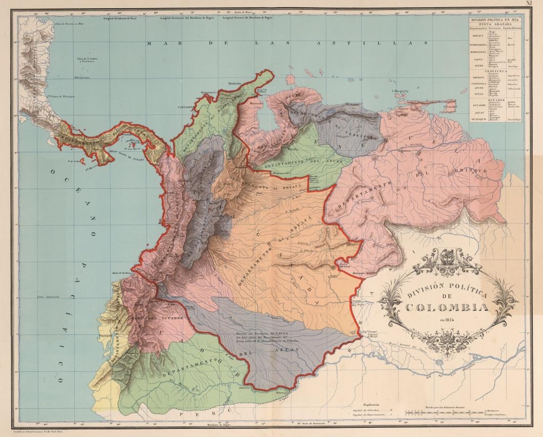 AGHRC_(1890)_-_Carta_XI_-_División_política_de_Colombia,_1824